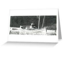 Man Rowing Greeting Card