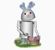 Cute Easter Robot -  Robo-x9  Kids Tee