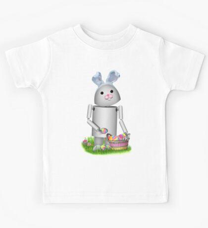 Cute Easter Robot -  Robo-x9  Kids Tee
