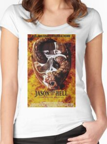 Friday the 13th Part 9 (Jason Goes to Hell: The Final Friday) - Original Poster 1993 Women's Fitted Scoop T-Shirt