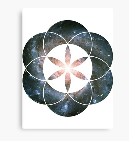 Pinwheel Galaxy | Sacred Geometry Flower of Life Sticker Canvas Print