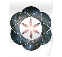 Pinwheel Galaxy | Sacred Geometry Flower of Life Sticker Poster