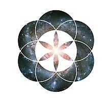 Pinwheel Galaxy | Sacred Geometry Flower of Life Sticker Photographic Print