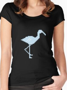 Blue Flamingo! Women's Fitted Scoop T-Shirt