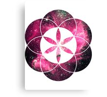 Magellan Red | Sacred Geometry Flower of Life Sticker Canvas Print