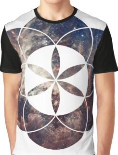 Star Clouds | Sacred Geometry Flower of Life Graphic T-Shirt