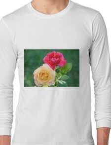 Red And Gold Roses Long Sleeve T-Shirt