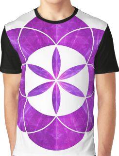 Ki Blast From Ancient Mew Metatron Overlay | Sacred Geometry Flower of Life Graphic T-Shirt