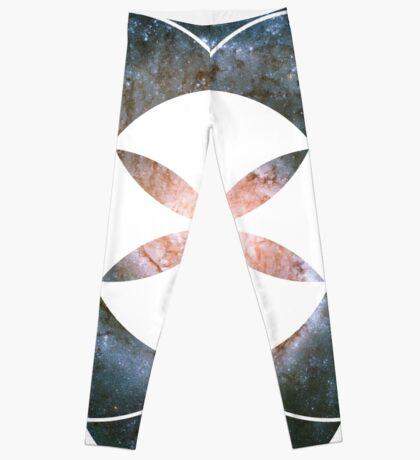 Pinwheel Galaxy   Sacred Geometry Flower of Life Sticker Leggings