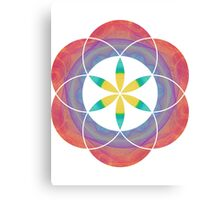 Eye of 24 | Sacred Geometry Flower of Life Sticker Canvas Print