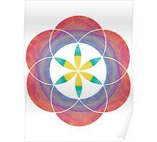 Eye of 24 | Sacred Geometry Flower of Life Sticker Poster