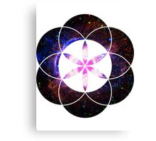 Eye of Helix [Pink] | Sacred Geometry Flower of Life Canvas Print