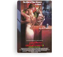 A Nightmare On Elm Street Part 2 (Freddy's Revenge) - Original Poster 1985 Canvas Print