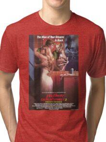 A Nightmare On Elm Street Part 2 (Freddy's Revenge) - Original Poster 1985 Tri-blend T-Shirt