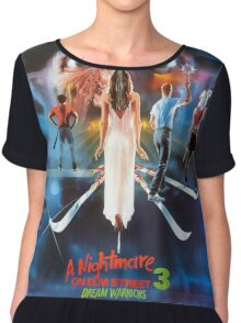 A Nightmare on Elm Street Part 3 (Dream Warriors) - Original Poster 1987 Chiffon Top