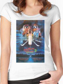 A Nightmare on Elm Street Part 3 (Dream Warriors) - Original Poster 1987 Women's Fitted Scoop T-Shirt