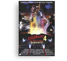 A Nightmare on Elm Street Part 4 (The Dream Master) - Original Poster 1988 Canvas Print