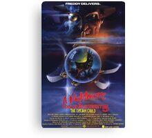 A Nightmare on Elm Street Part 5 (The Dream Child) - Original Poster 1989 Canvas Print