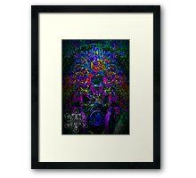 Psychedelic Rave Face.02 Framed Print