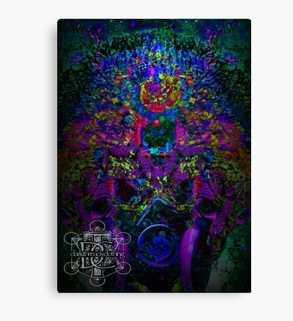 Psychedelic Rave Face.02 Canvas Print