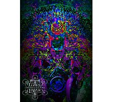 Psychedelic Rave Face.02 Photographic Print