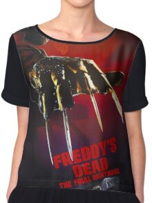 A Nightmare On Elm Street Part 6 (Freddy's Dead: The Final Nightmare) - Original Poster 1991 Chiffon Top
