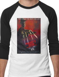 A Nightmare On Elm Street Part 6 (Freddy's Dead: The Final Nightmare) - Original Poster 1991 Men's Baseball ¾ T-Shirt