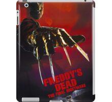 A Nightmare On Elm Street Part 6 (Freddy's Dead: The Final Nightmare) - Original Poster 1991 iPad Case/Skin