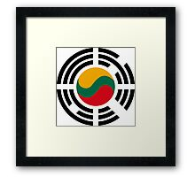Korean Lithuanian Multinational Patriot Flag Series Framed Print