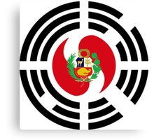 Korean Peruvian Multinational Patriot Flag Series Canvas Print
