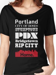 Portland Is My Home. Women's Relaxed Fit T-Shirt