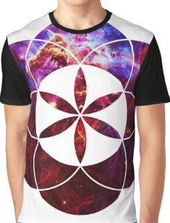 Mystic Carina | Sacred Geometry Flower of Life Graphic T-Shirt