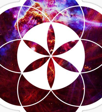 Mystic Carina   Sacred Geometry Flower of Life Sticker