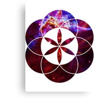 Mystic Carina | Sacred Geometry Flower of Life Canvas Print