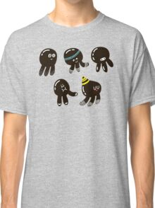 Black cute octopuses Classic T-Shirt