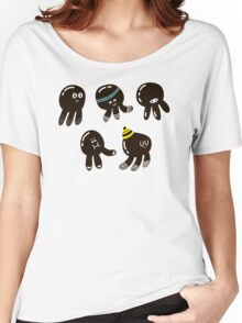 Black cute octopuses Women's Relaxed Fit T-Shirt