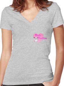 Body Positive Wigglytuff Women's Fitted V-Neck T-Shirt