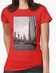 15 March 2016. Photography of street with skyscrapers from Dubai, United Arab Emirates. Womens T-Shirt
