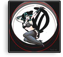 Graffiti Logo Retro Pin up girl Canvas Print