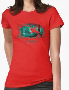 Running In The Wood Womens T-Shirt