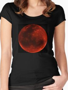 Blood Moon of Fire  Women's Fitted Scoop T-Shirt