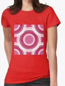 Pink and White Ornaments Womens T-Shirt