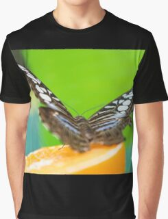 butterffly on fruit Graphic T-Shirt