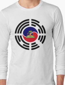 Korean Haitian Multinational Patriot Flag Series Long Sleeve T-Shirt