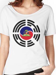 Korean Haitian Multinational Patriot Flag Series Women's Relaxed Fit T-Shirt