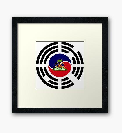 Korean Haitian Multinational Patriot Flag Series Framed Print