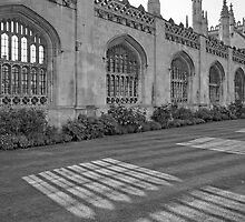 Shadows of King's College Cambridge, B&W by Priscilla Turner