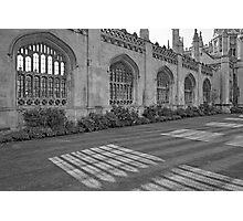 Shadows of King's College Cambridge, B&W Photographic Print