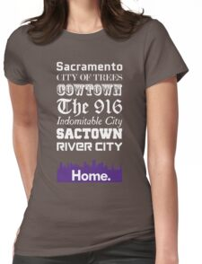 Sacramento Is My Home. Womens Fitted T-Shirt