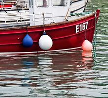 E167 At Lyme Regis Harbour by Susie Peek